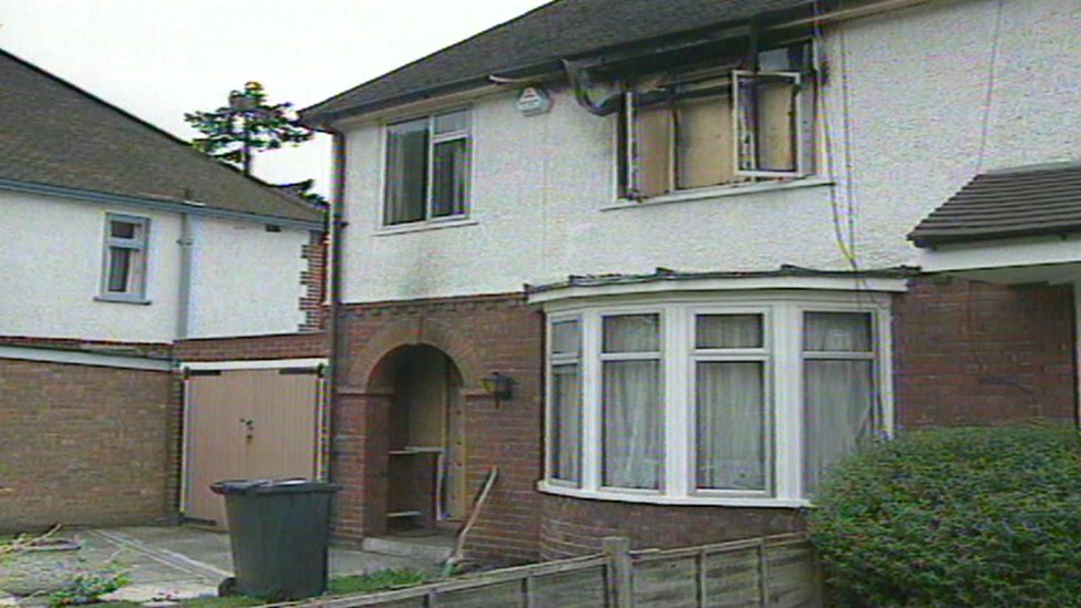 The burnt out house in Hemdean Road, Caversham