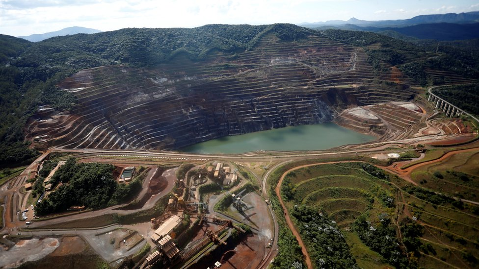 "A view of the dam at Brazilian miner Vale""s Gongo Soco mine is seen in Barao de Cocais, Minas Gerais state"