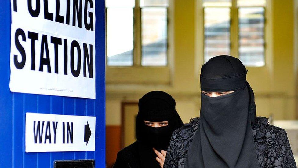 Women wearing burkas