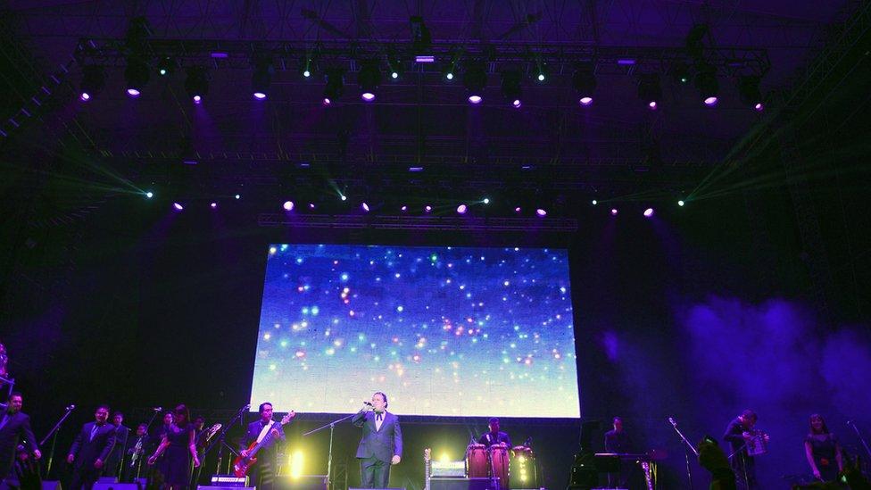 Actuación de Los Ángeles Azules en México en 2013