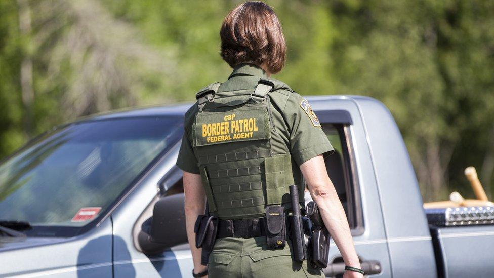 Control de la patrulla fronteriza de Estados Unidos