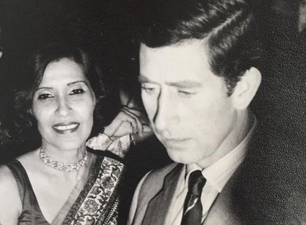 Gulshan Ewing with Prince Charles