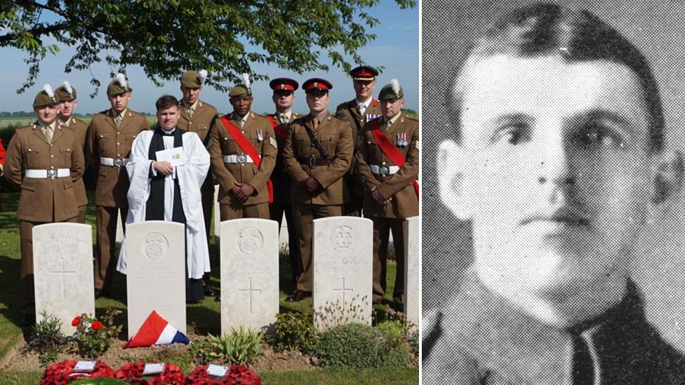 'Unknown soldier' WW1 grave dedicated to Cpl Robert Davies