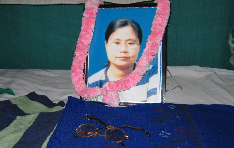 Manorama was killed in July 2004