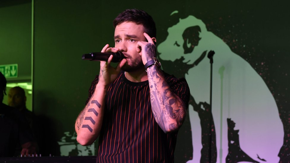 Singer Liam Payne performs at the launch event of the HMV Vault in Birmingham
