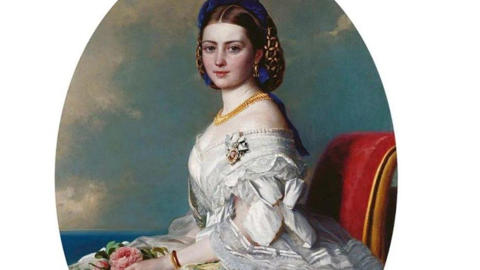 الأميرة فيكي ابنة الملكة فيكتوريا، التي تظهر في هذه اللوحة التي رسمت لها في عام 1863