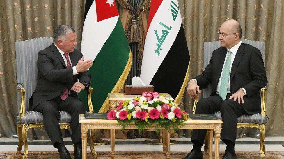 العاهل الأردني الملك عبد الله الثاني والرئيس العراقي برهم صالح