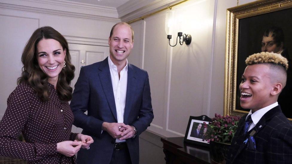 Radio 1 Teen Heroes meet Will and Kate at Kensington Palace