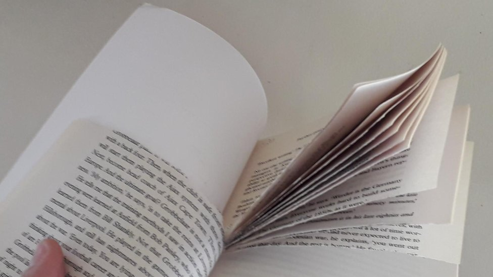 One of the torn books