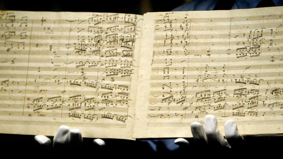 Original music from Beethoven's 9th Symphony
