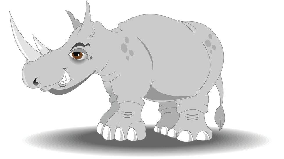 Dibujo de un rinoceronte