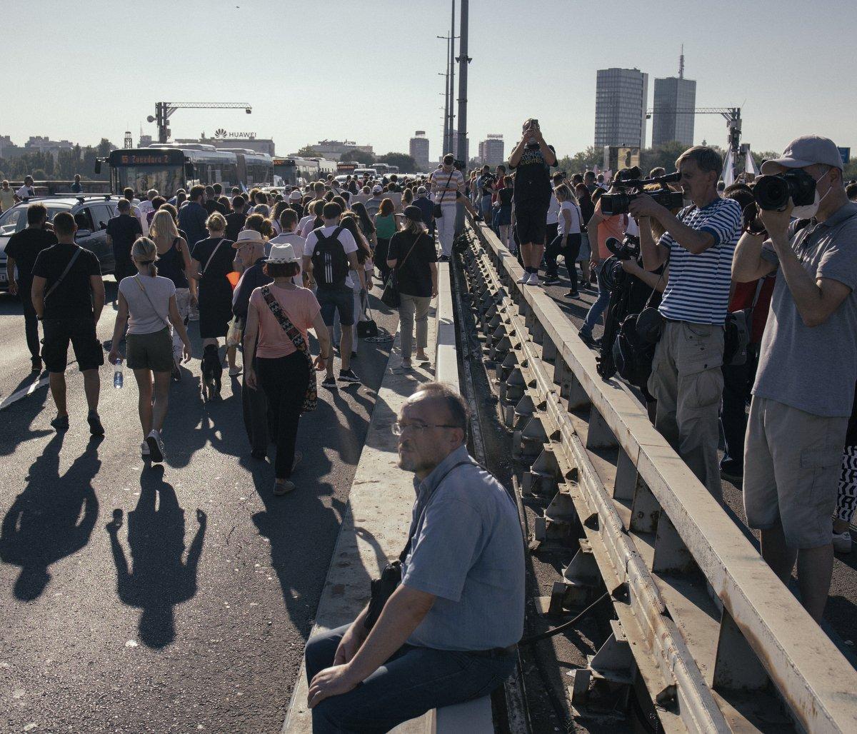 Blokada Brankovog mosta u Beogradu