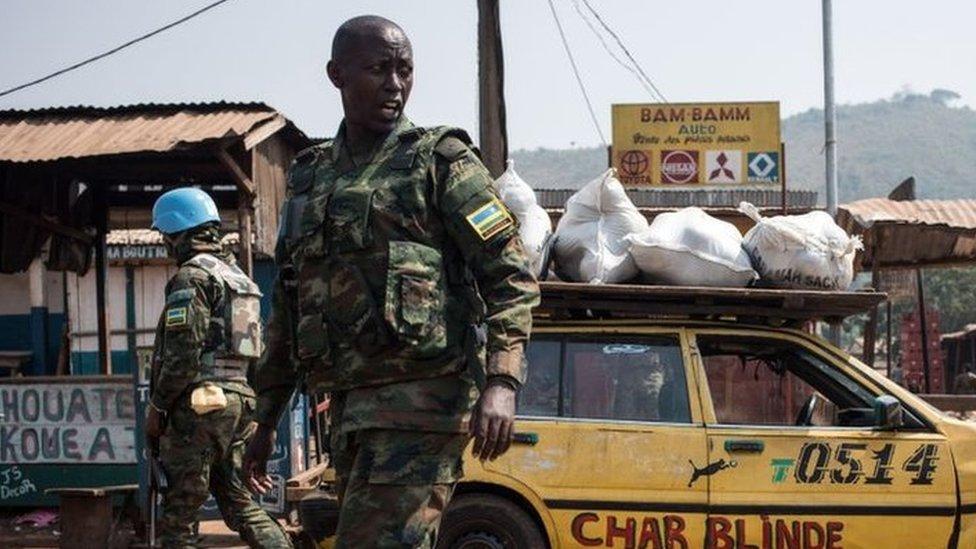 دورية تابعة لبعثة الأمم المتحدة في جمهورية أفريقيا الوسطى
