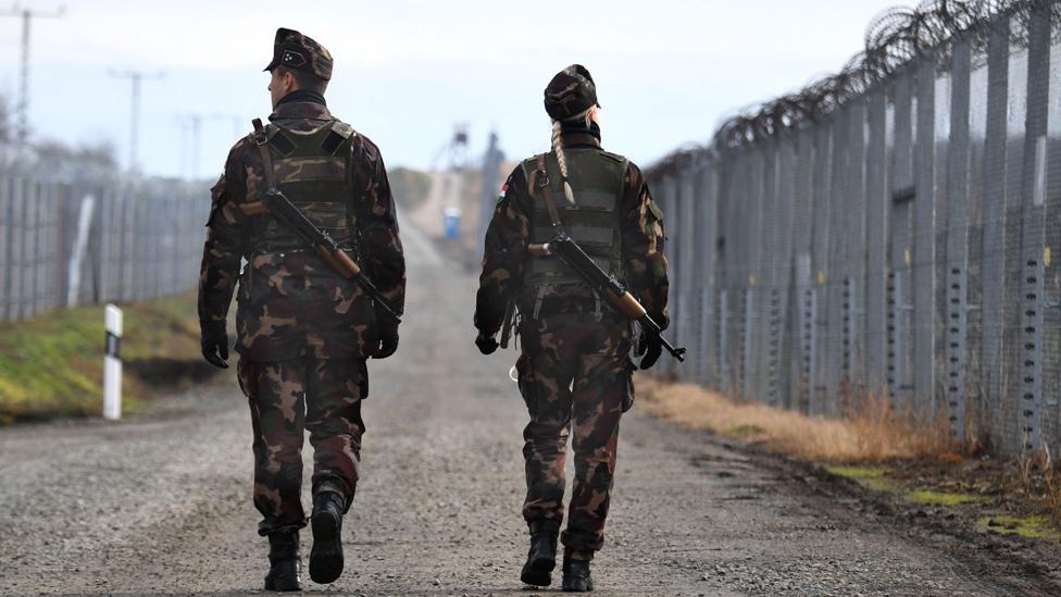 Hungary border fence, Dec 2017