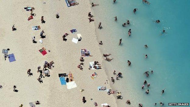 A beach on Zakynthos island, Greece