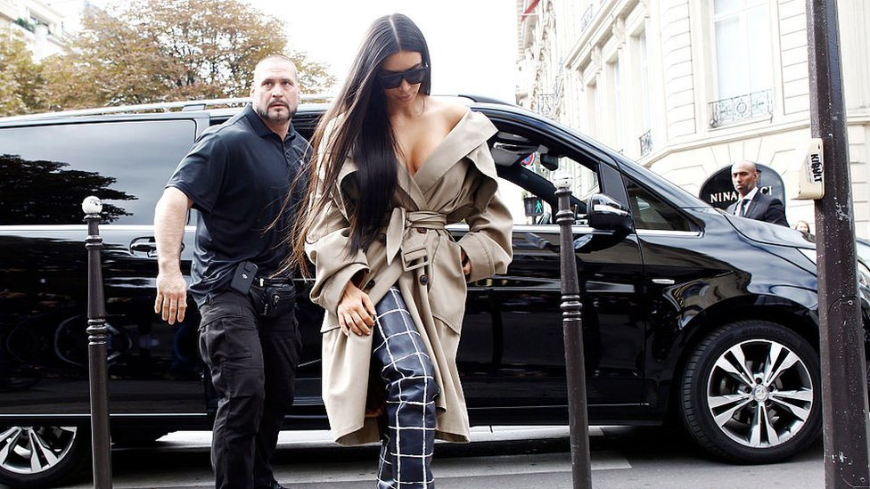 Pascal Duvier and Kim Kardashian West