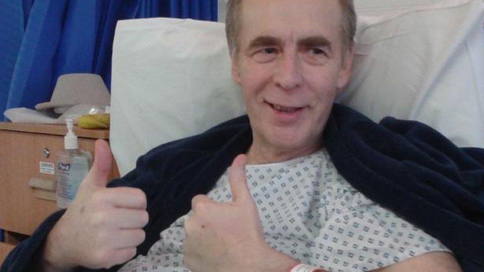 Ron Morgan in hospital