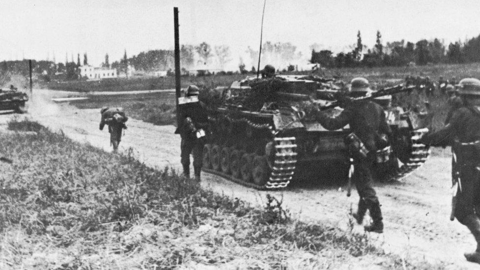 German tanks invade Poland on 1 September