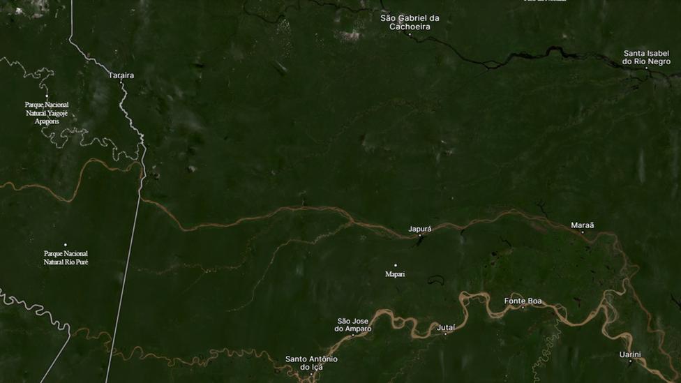 O município de Japurá fica em uma das regiões mais isoladas da Amazônia e faz fronteira com a Colômbia
