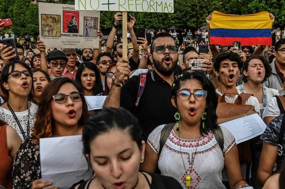 Protesta en Medellín