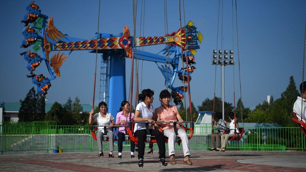 Parque de Diversiones del Pueblo Rungra en Pyongyang.