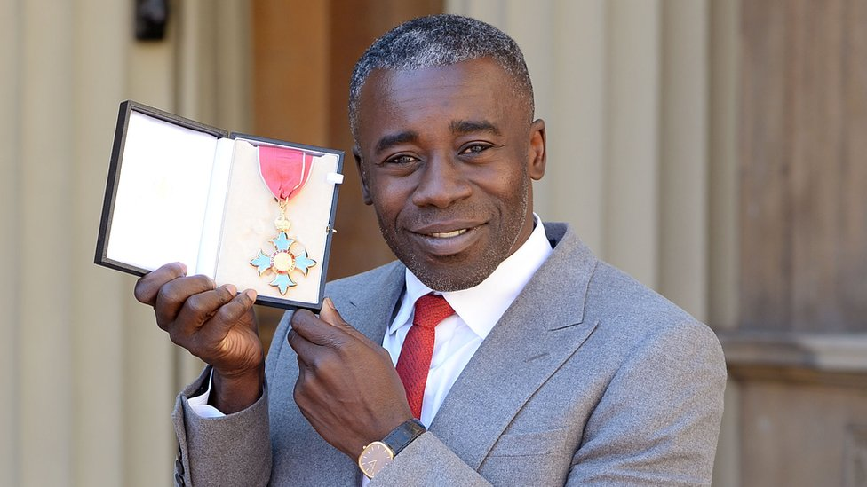 Artist Christopher Ofili received a CBE at the ceremony