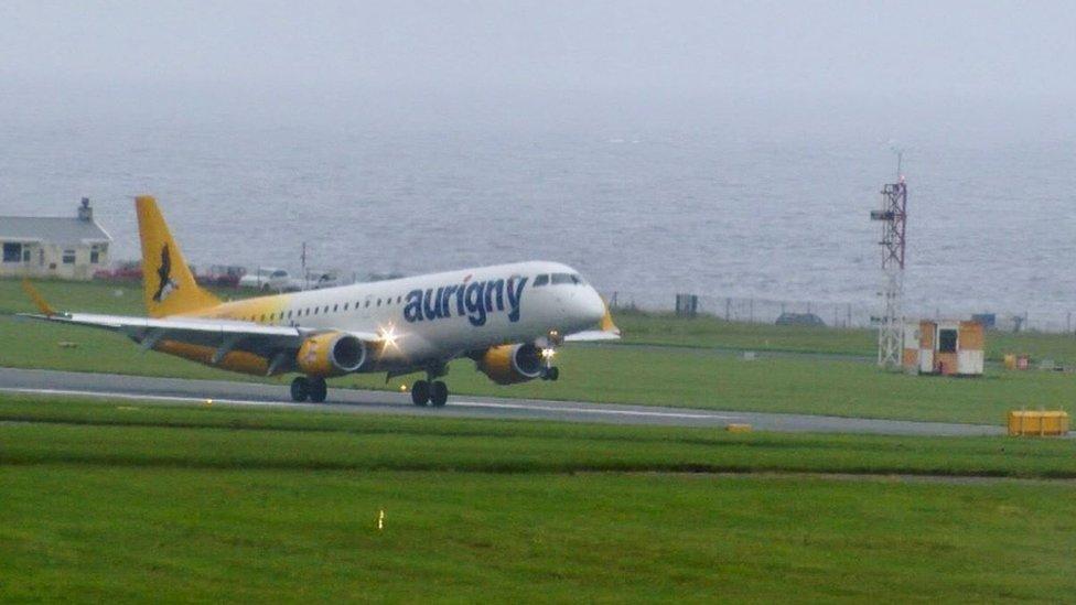 Aurigny plane at Ronaldsway Airport