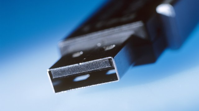 Close up of a USB stick