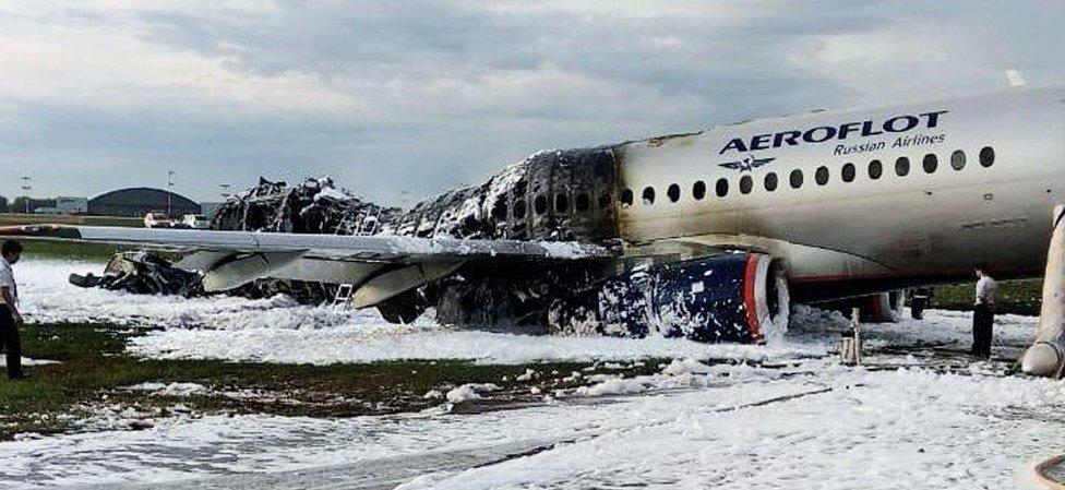 El avión de aeroflot.