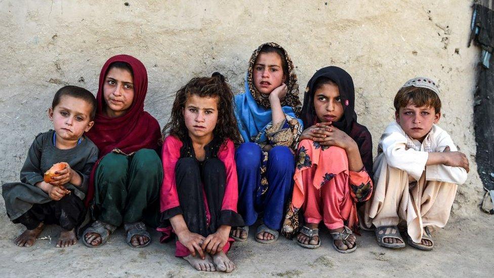 Niños y niñas afganas en la provincia de Kandahar, septiembre 2020