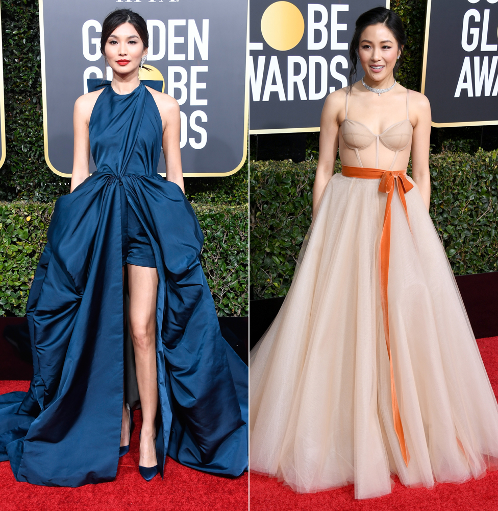 Gemma Chan (left) and Constance Wu