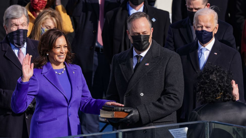 Juramentación de Kamala Harris como vicepresidenta de Estados Unidos