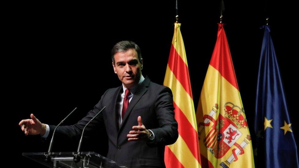 El presidente del Gobierno, Pedro Sanchéz,