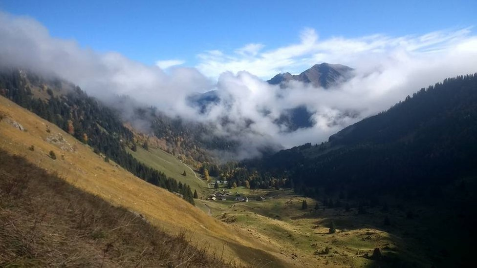 A view of a valley in the area of Morzine