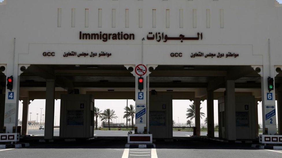 Satu-satunya perbatasan darat Qatar, ditutup Arab Saudi pada tahun 2017.