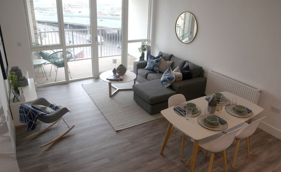 An interior at the show flat of Argo Apartments, Canning Town