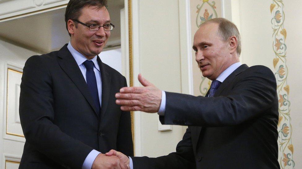 Aleksandar Vučić i Vladimir Putin u Moskvi, jul 2014. godine