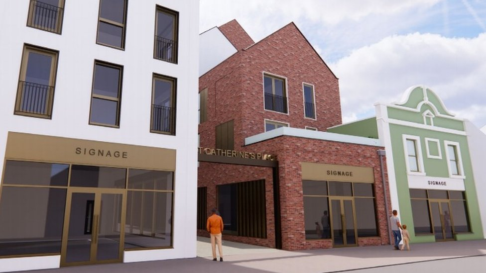 Artist's impression of the East Street entrance to St Catherine's Place