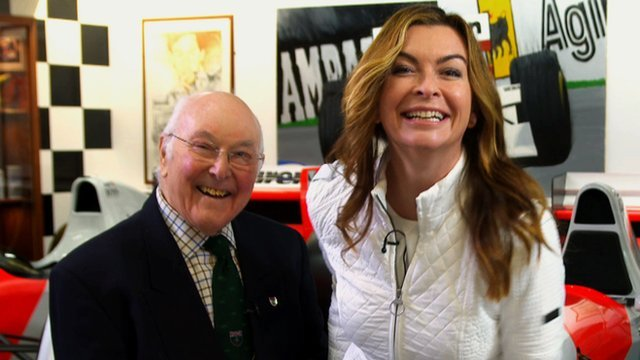 Murray Walker and Suzi Perry