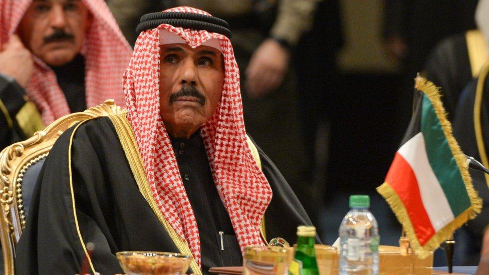 Sheikh Nawaf al-Ahmed of Kuwait at a GCC summit in Kuwait City on 5 December 2017