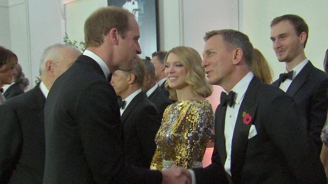 Prince William and Daniel Craig