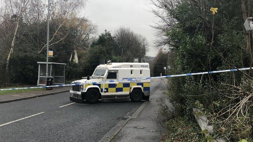 Dunmurry Lane: Police find 'improvised weapon'