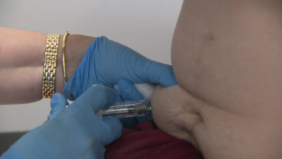The Buvidal injection is given once a month