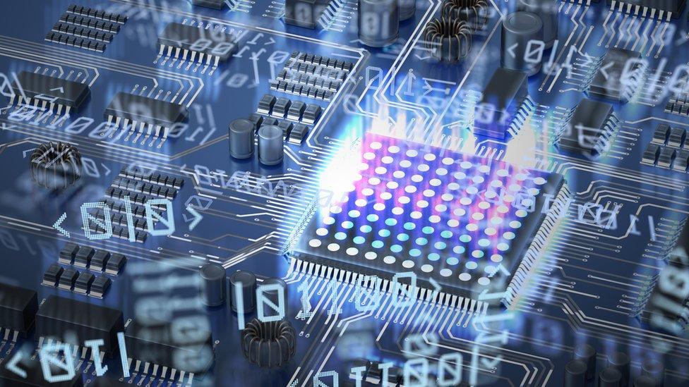 Ilustración de computación cuántica