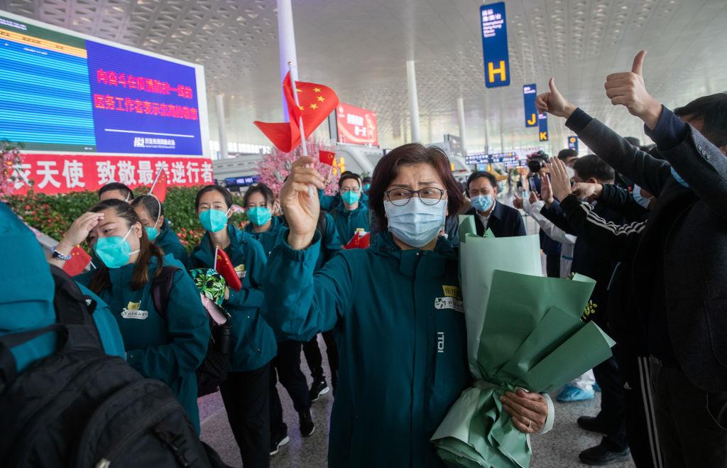 來自中國其他地區支援武漢的醫護人員已全部撤離武漢。