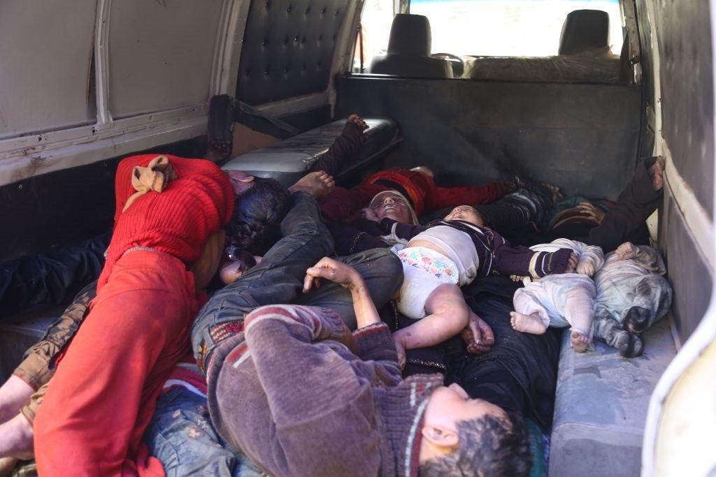 صور للهجوم الكيماوي المزعوم من قبل القوات الحكومية السورية على دوما في الغوطة الشرقية بريف دمشق. 8 أبريل/نيسان 2018