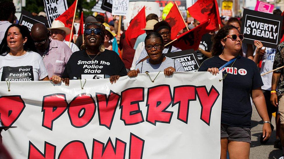 Protesta contra la pobreza en Estados Unidos