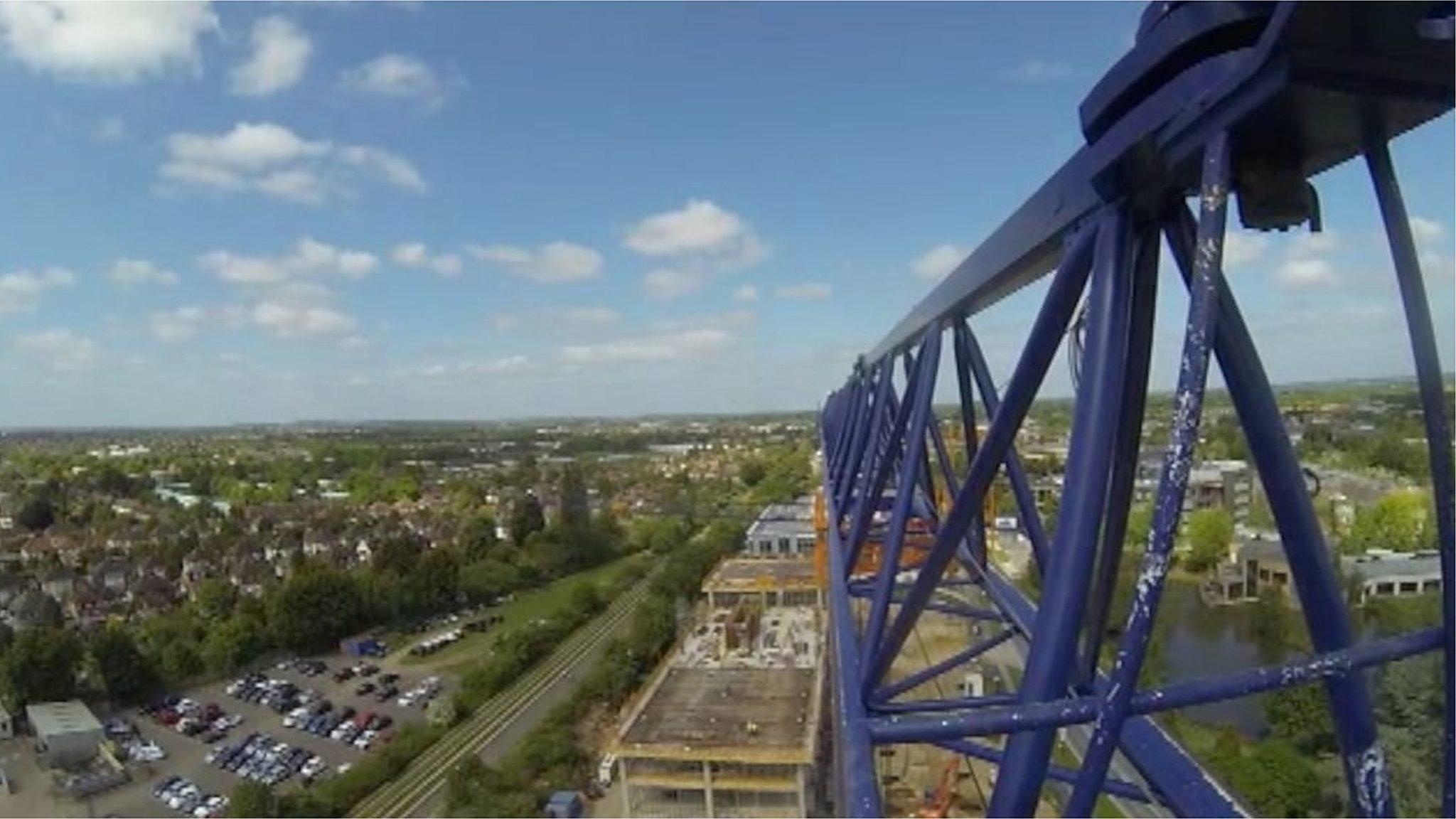 Crane operator's view of Cambridge's changing skyline