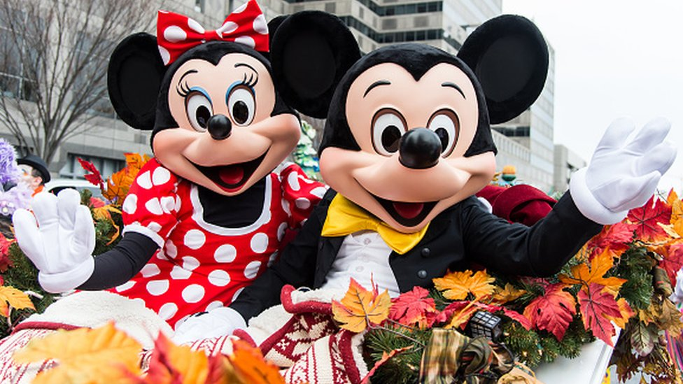 Mickey y Minnie Mouse