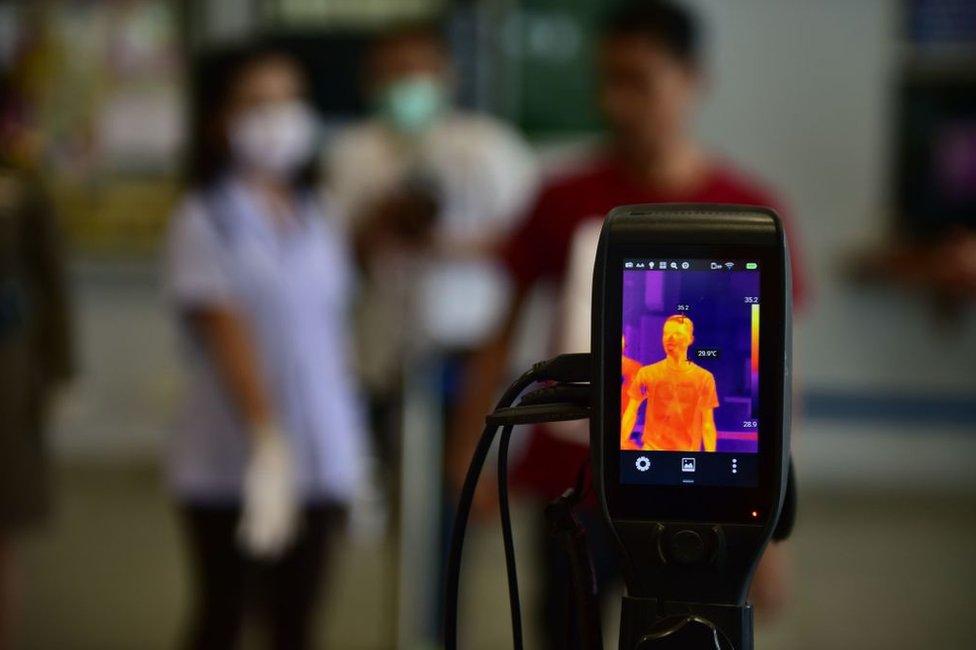 Escáner térmico en Tailandia
